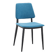 dining chairs fabric metal legs sky blue
