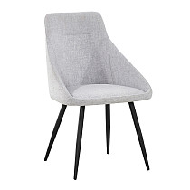 dining chairs fabric light grey metal legs