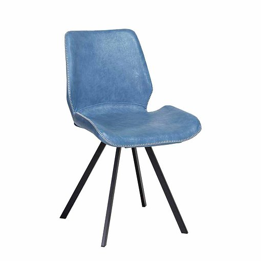 dining chair blue Black leatherette