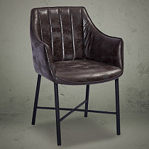cross metal legs dining chair armchair
