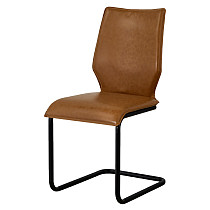 dining side chair armless brown leather made in china