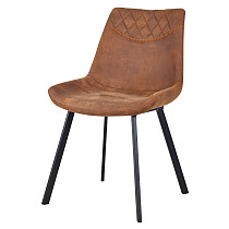 china furniture brown leather armless dining cafe chair