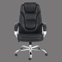 executive office chair leather high back black leather made in china