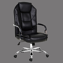 ergonomic office chair leather high back made in china