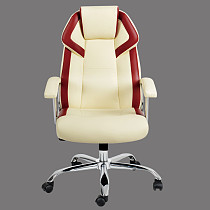 office chair beige leather made in china