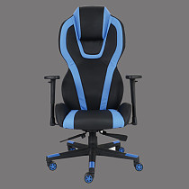 gaming chair office blue leather swivel made in china