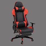 gaming chair red and black leather made in china