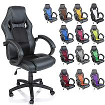 Racing Style Faux Leather Office Chair Executive Chair Swivel Chair Black