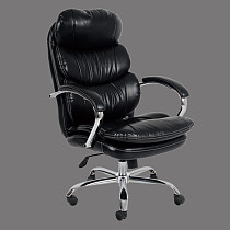 office chairs leather tall nylon castor chromed base