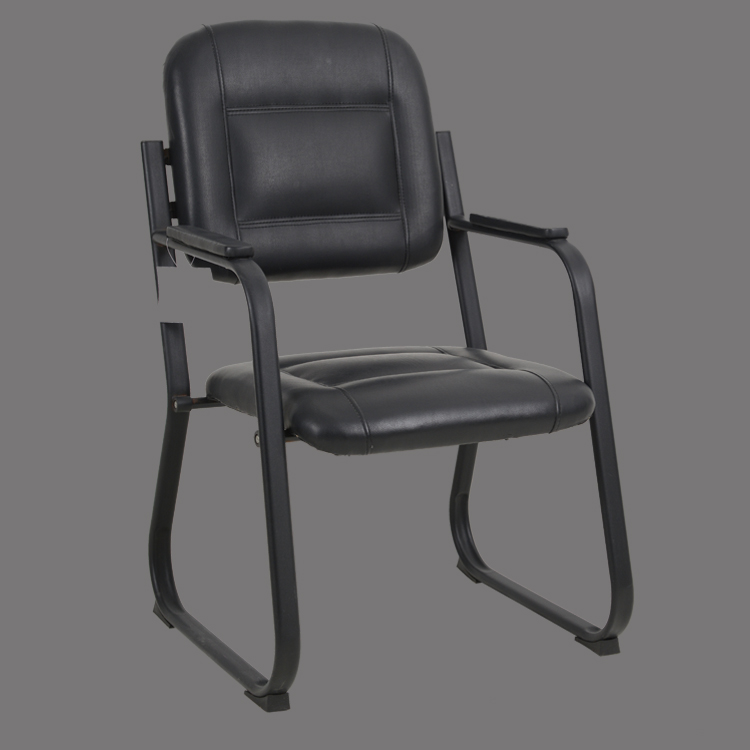 visitor chair office leather mid back hot sale