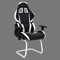 gaming chair leather high back without wheels