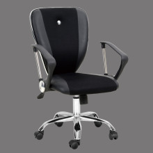 leather fabric office chair mid back made in china