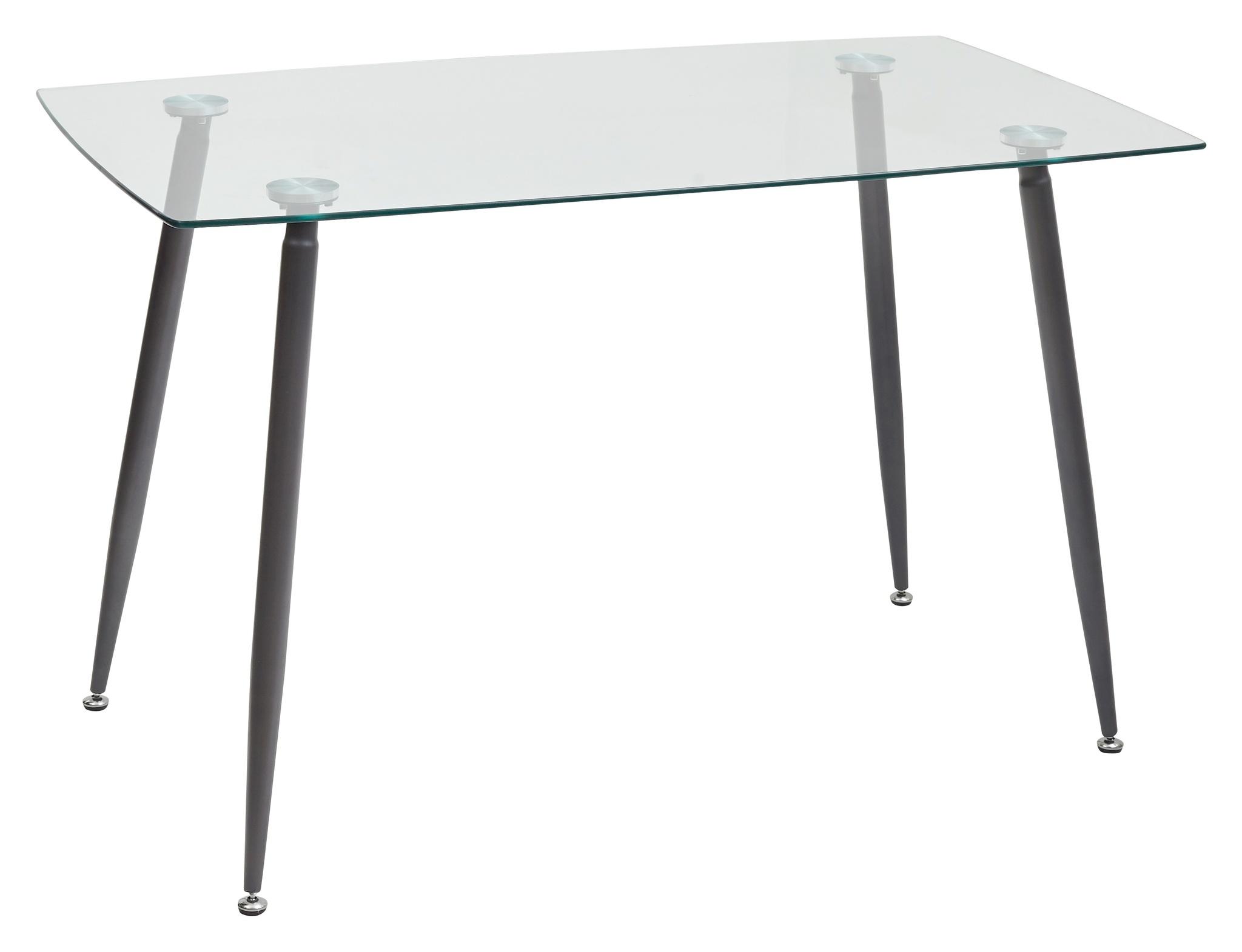 TABLE RECTANGULAR RON 120 TRANSPARENT (120 X 70 CM.)