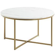 Metal & Marble Coffee Table