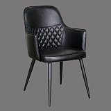 china dining chair high back black leather with armrest cheap modern