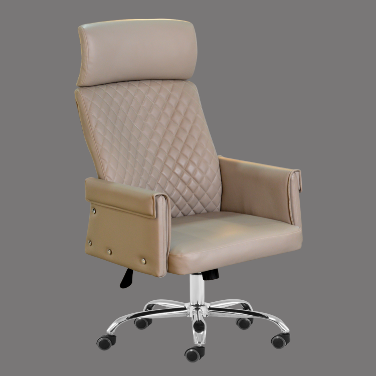 Office chair china leather high back swivel with headrest