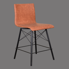 bar stool brown leather made in china new design