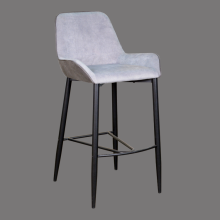 bar stools gray fabric comfortable counter height kitchen chair