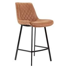 Microfibre bar stool with metal legs made in china