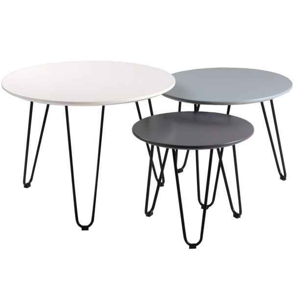 set of 3 MDF side tables