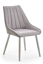 china latest design gray fabric dining chair contemporary