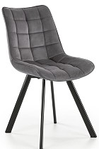 Grey fabric dining chairs made in china modern new design