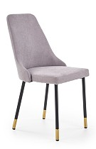 contemporary dining chair gray fabric high back made in china