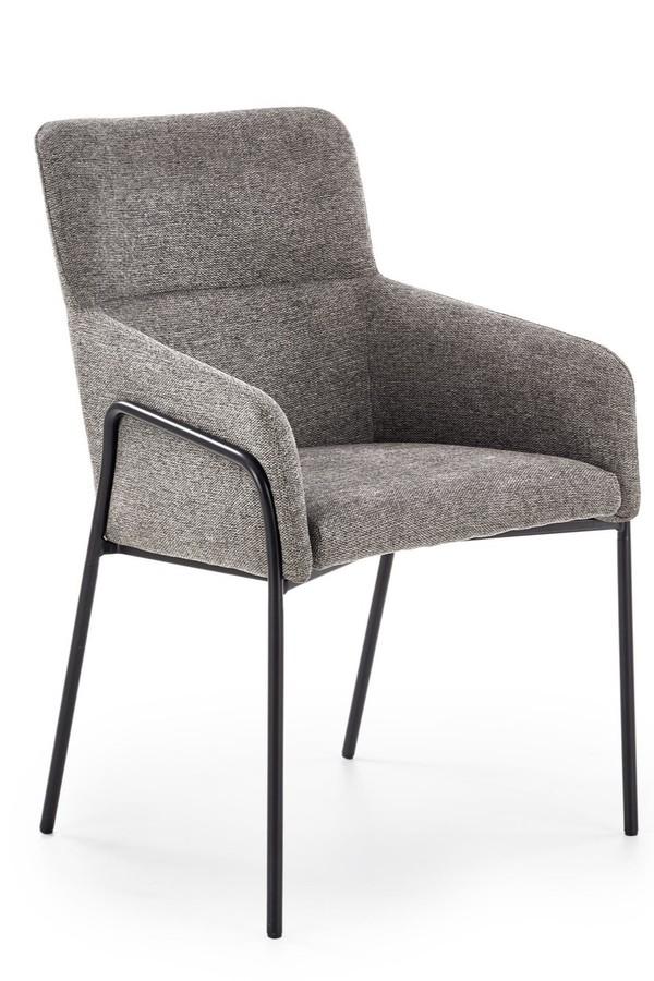 Gray fabric armchair new design
