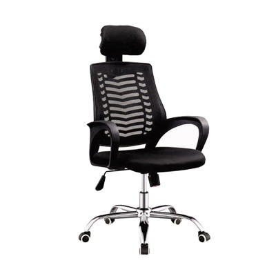 Mesh office chair high back black with headrest