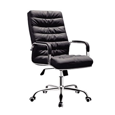 Office chair faux leather high back