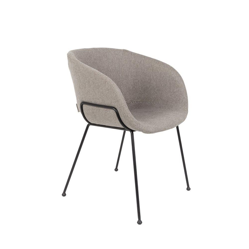 modern grey fabric armchair metal legs made in china
