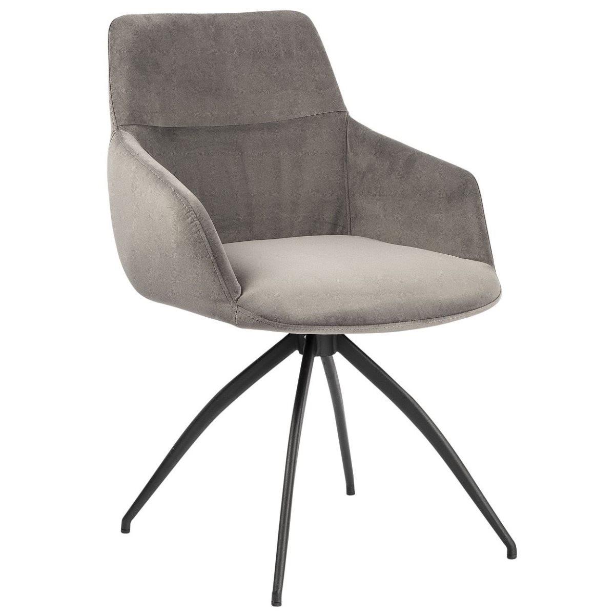 Gray fabric dining room chair modern cheap design