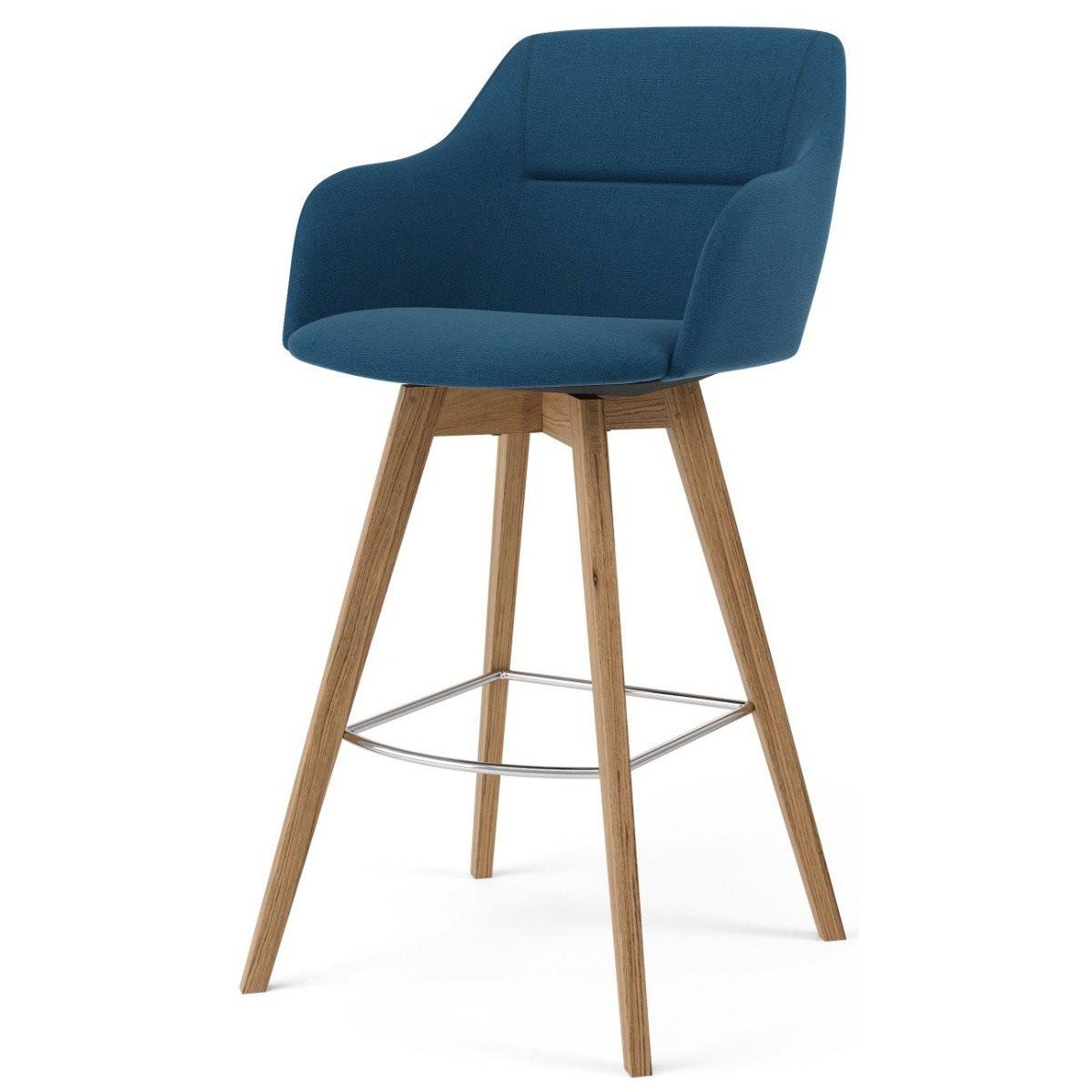 Modern fabric bar stools wood base