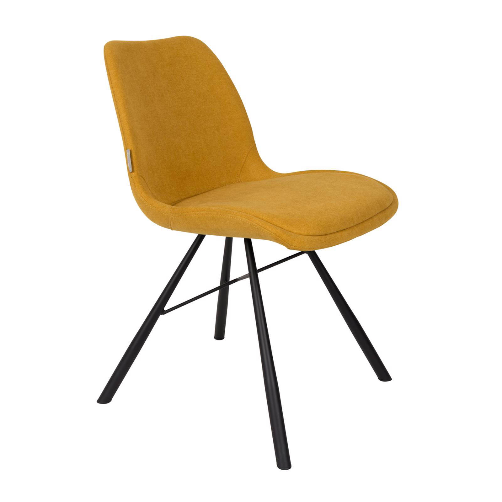 Yellow fabric dining chair high back modern made in china