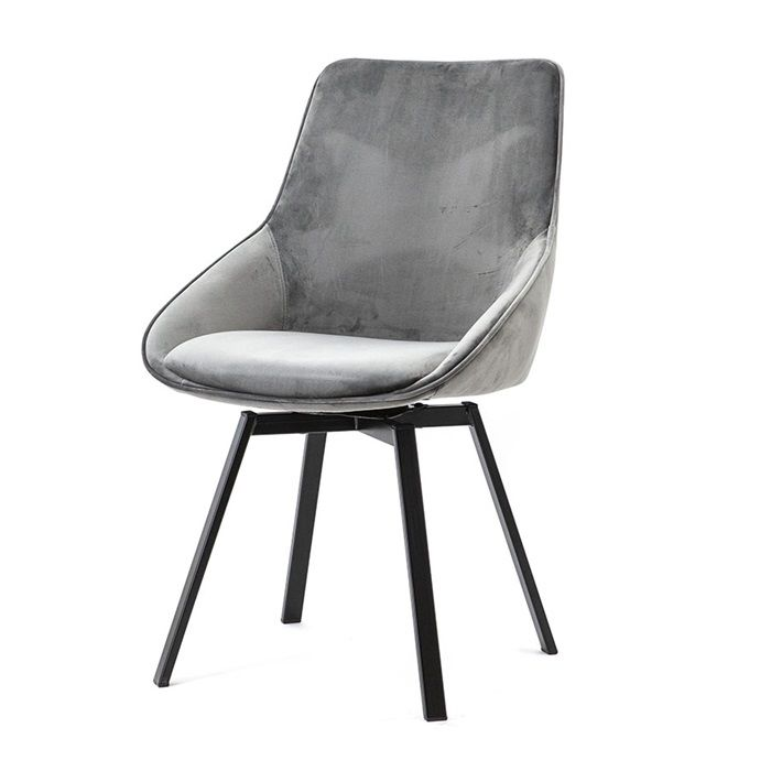 Grey dining chairs swivel contemporary design
