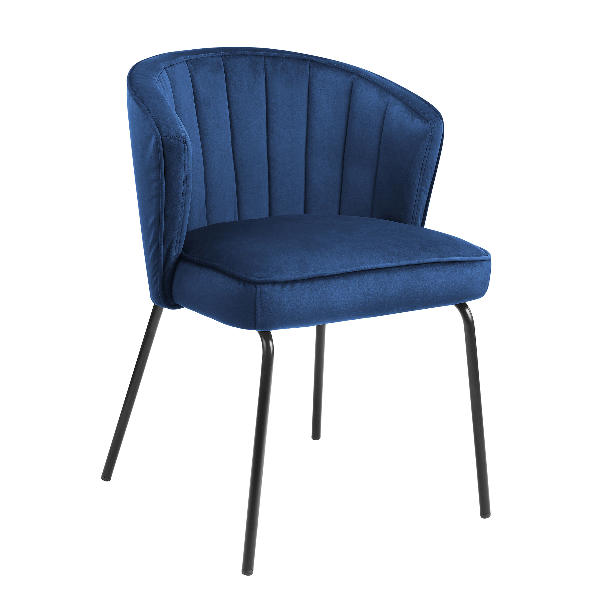 Velvet Dining Chairs Navy Blue With metal legs
