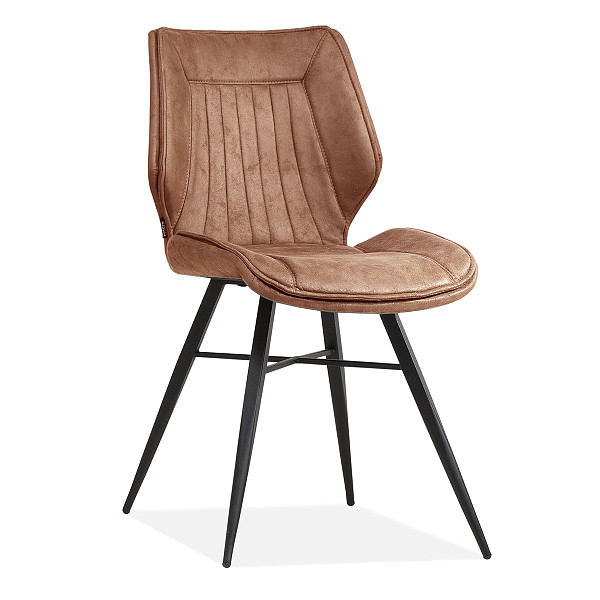 Luxury industrial bucket dining chair