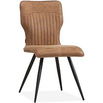 beautiful elegant dining chair comfort.retro design with black metal legs