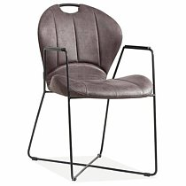 Vinage dining chair leather made in china affordable