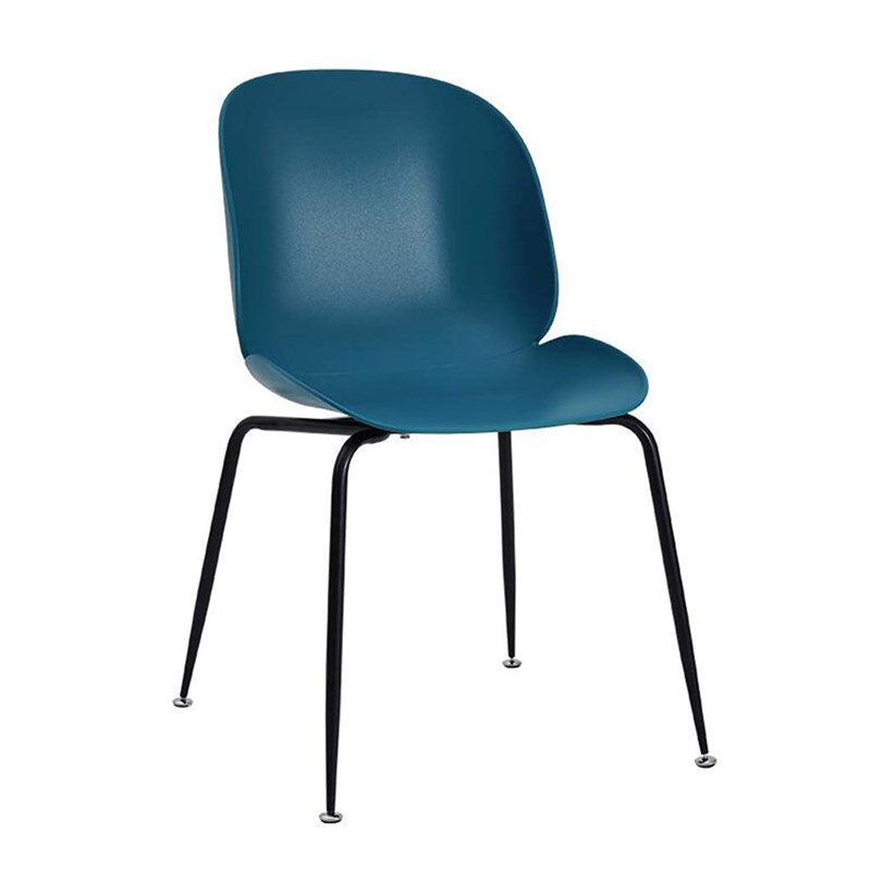 Beetle Chair pp Plastic Seat With Metal Legs teal