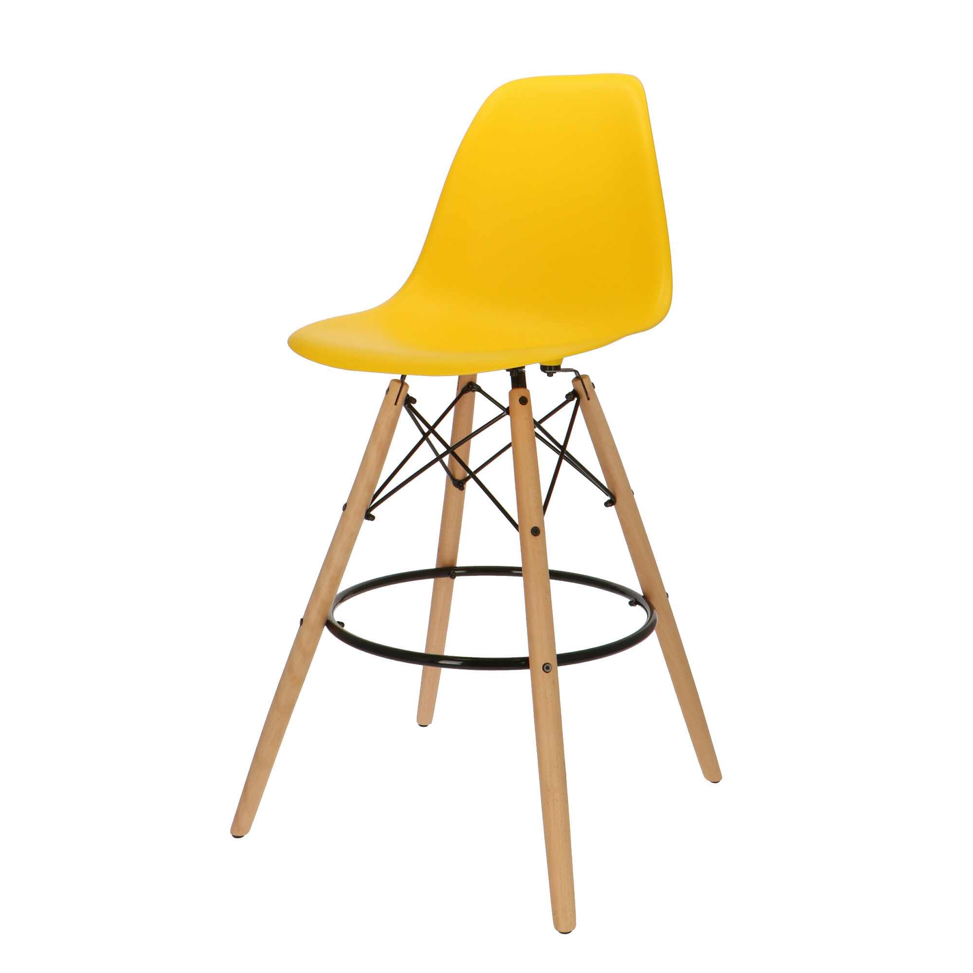 Eames DSW Counter Bar Stool Yellow