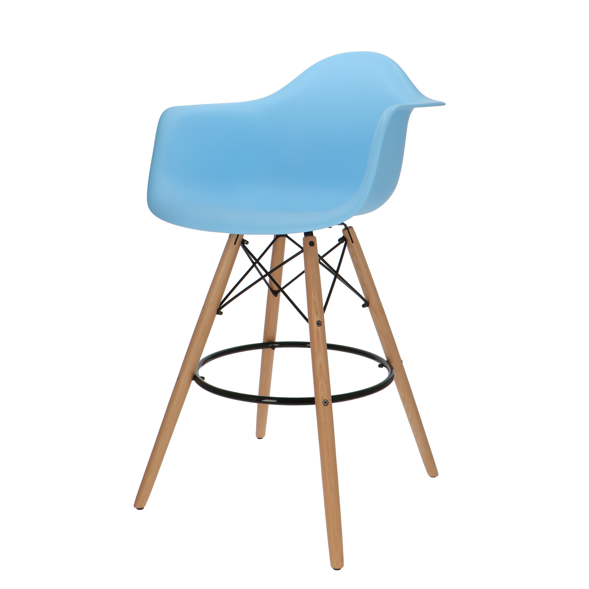 Eames DAW Bar Stool Light Blue
