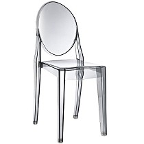 Modern Contemporary Design Kitchen Dining Side Chair Crystal Smoke Transparent