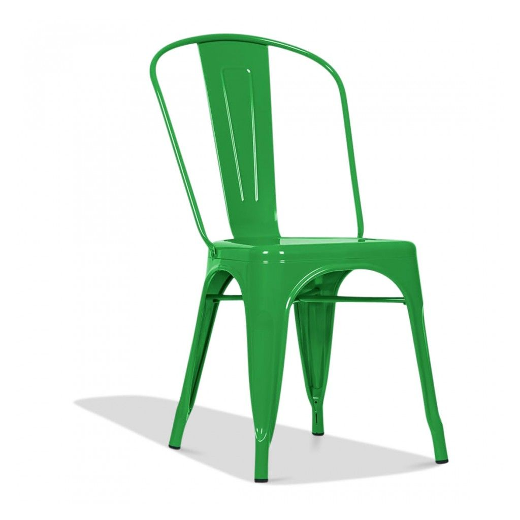 Tolix metal dining chair green