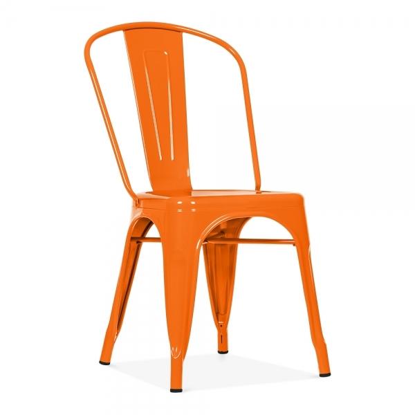 Replica Tolix Metal Dining Chair Orange