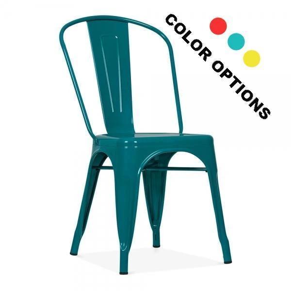Replica Tolix Metal Dining Chair Teal