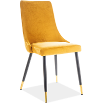 yellow velvet dining chair upholstered cafe chair high back comfy