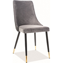 gray velvet dining chair upholstered cafe chair high back comfy