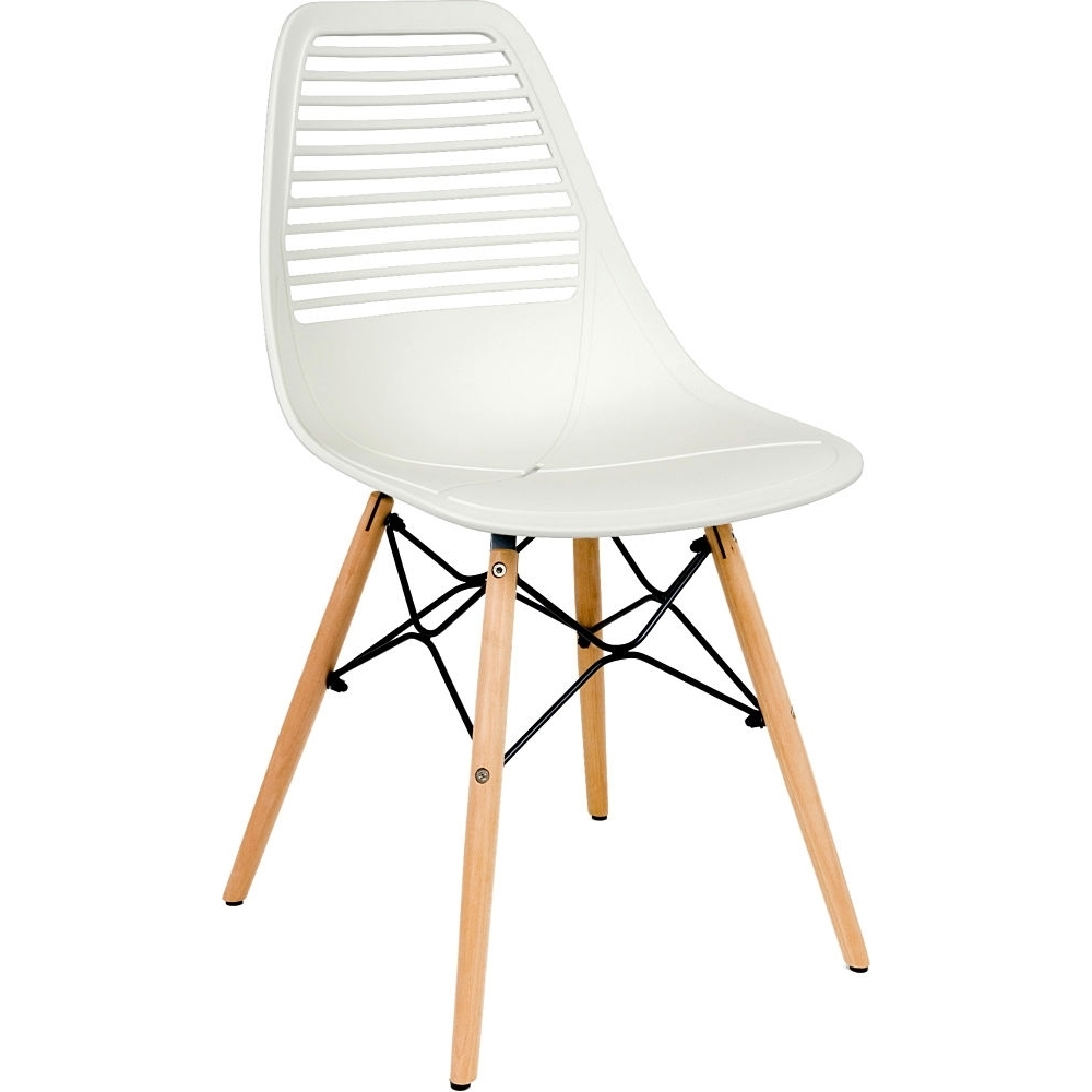 nordic design white plastic chair with wooden legs