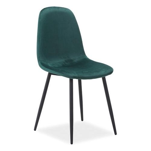 forest green velvet dining cafe chair scandinavian contemporary design